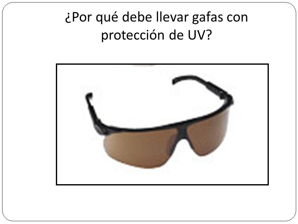 ¿Por qué debe llevar gafas con protección de UV?