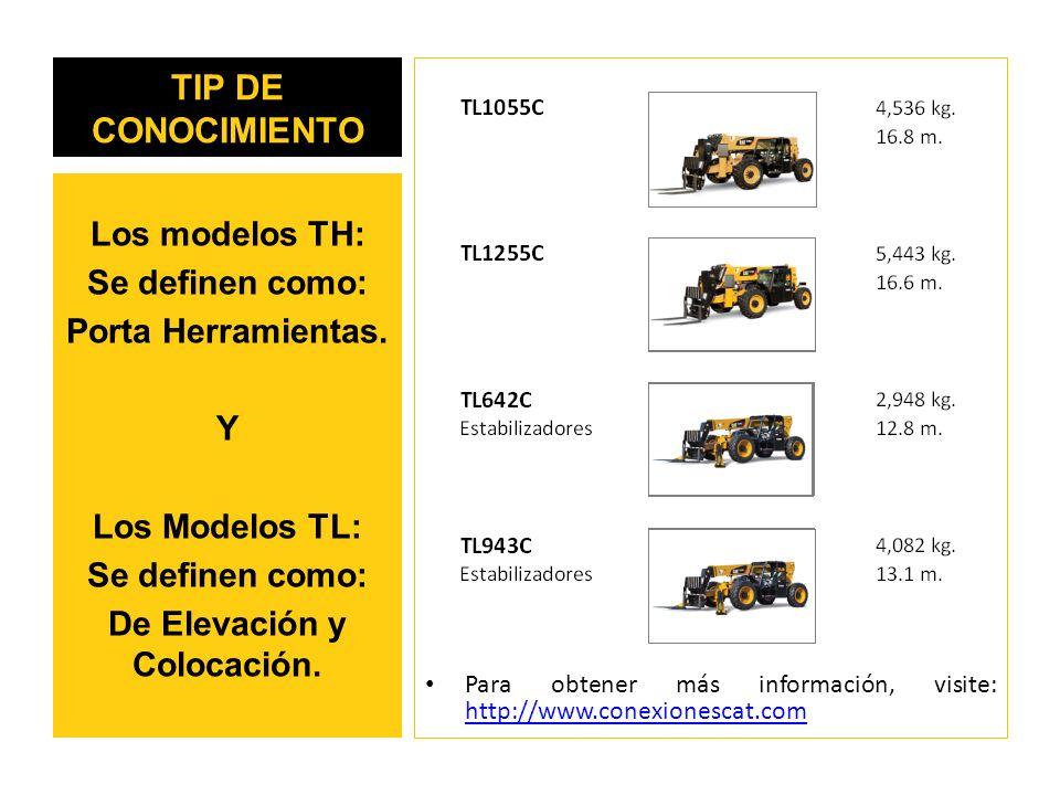 TIP DE CONOCIMIENTO Para obtener más información, visite: http://www.conexionescat.com http://www.conexionescat.com Los modelos TH: Se definen como: Porta Herramientas.
