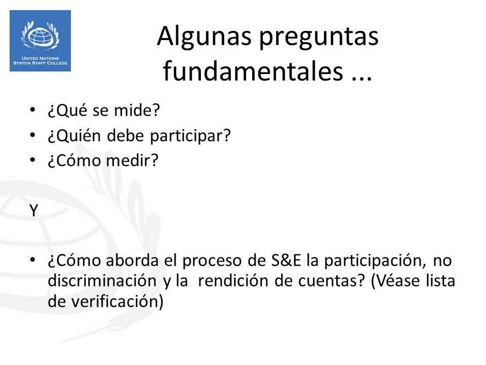 Algunas preguntas fundamentales...¿Qué se mide. ¿Quién debe participar.