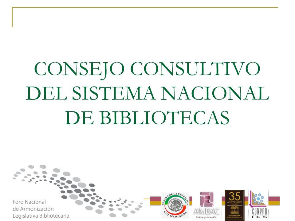 CONSEJO CONSULTIVO DEL SISTEMA NACIONAL DE BIBLIOTECAS