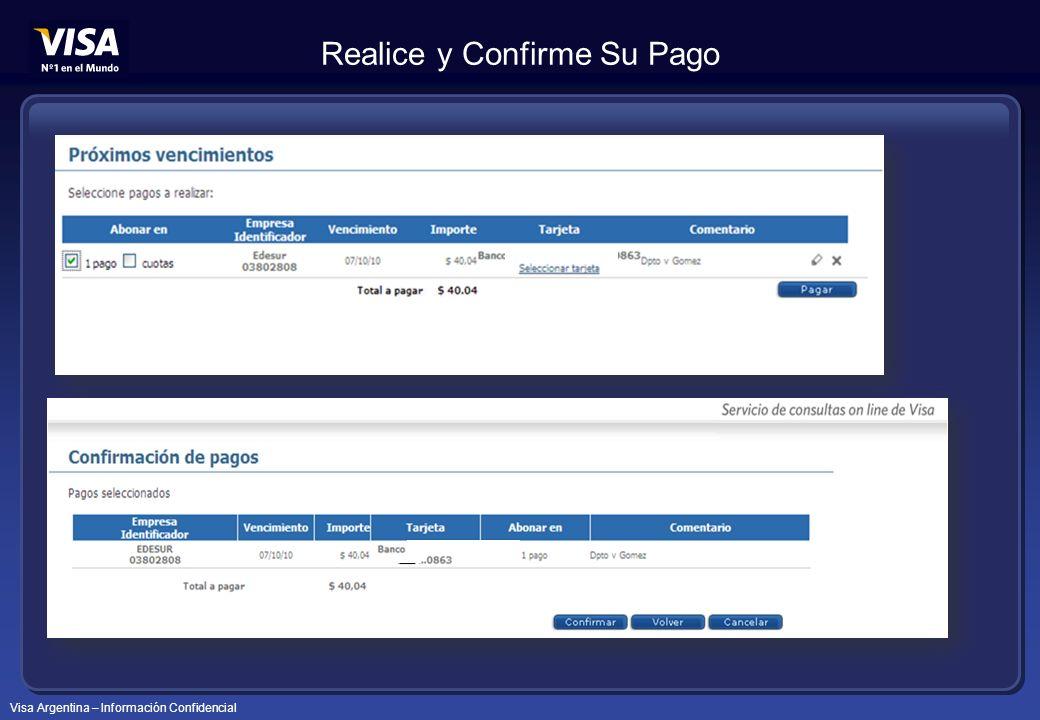 Visa Argentina – Información Confidencial Realice y Confirme Su Pago