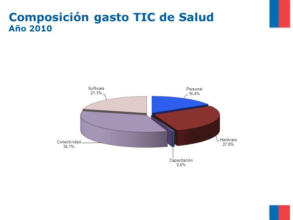 Composición gasto TIC de Salud Año 2010