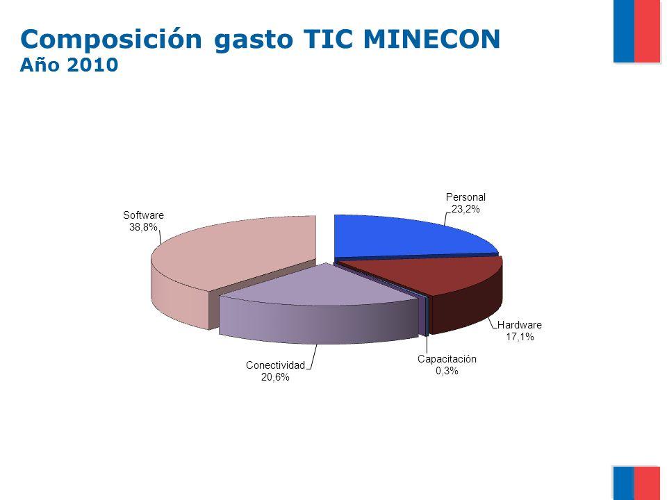 Composición gasto TIC MINECON Año 2010