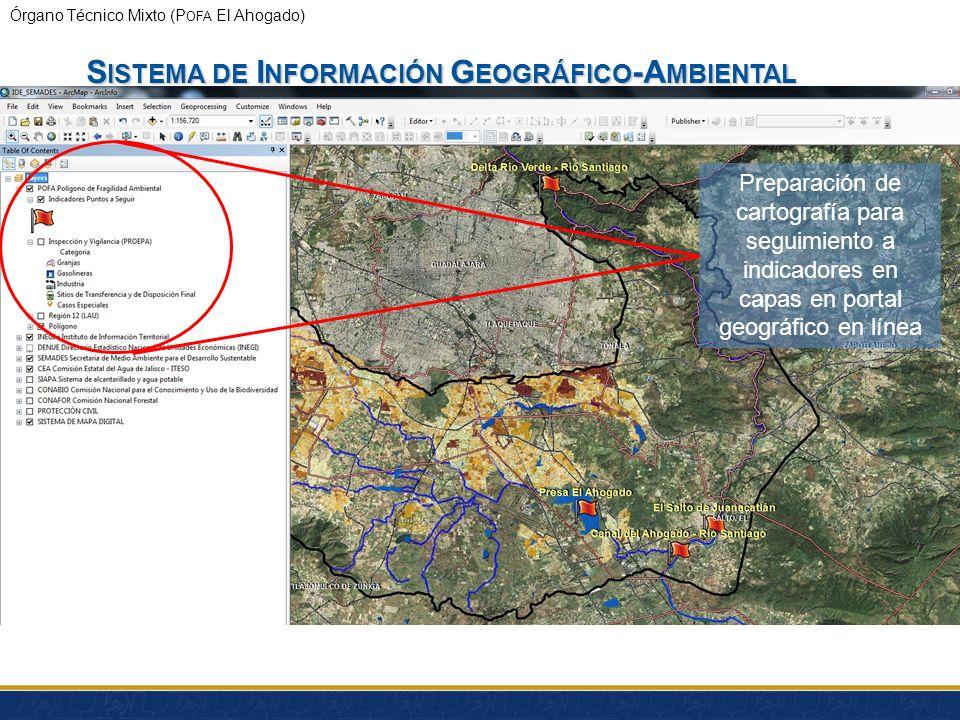 Órgano Técnico Mixto (P OFA El Ahogado) S ISTEMA DE I NFORMACIÓN G EOGRÁFICO -A MBIENTAL 1.Integración de información Geográfico-Ambiental en una Infr
