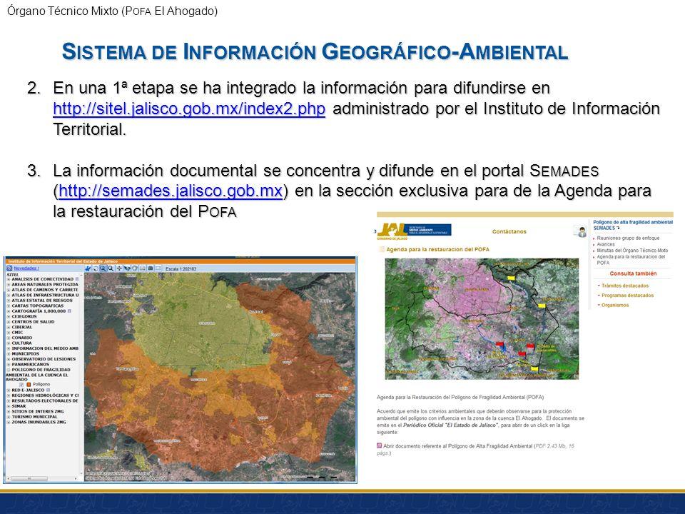 Órgano Técnico Mixto (P OFA El Ahogado) S ISTEMA DE I NFORMACIÓN G EOGRÁFICO -A MBIENTAL Preparación de cartografía para seguimiento a indicadores en