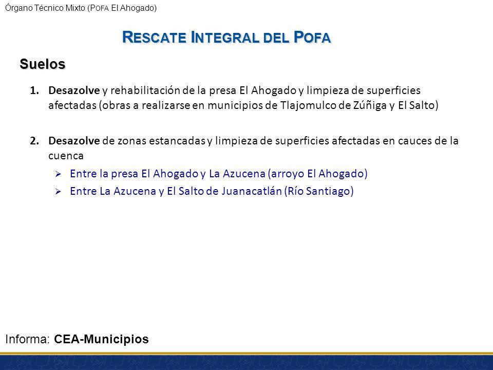 Órgano Técnico Mixto (P OFA El Ahogado) R ESCATE I NTEGRAL DEL P OFA Agua Informa: Siapa Presentación del Siapa