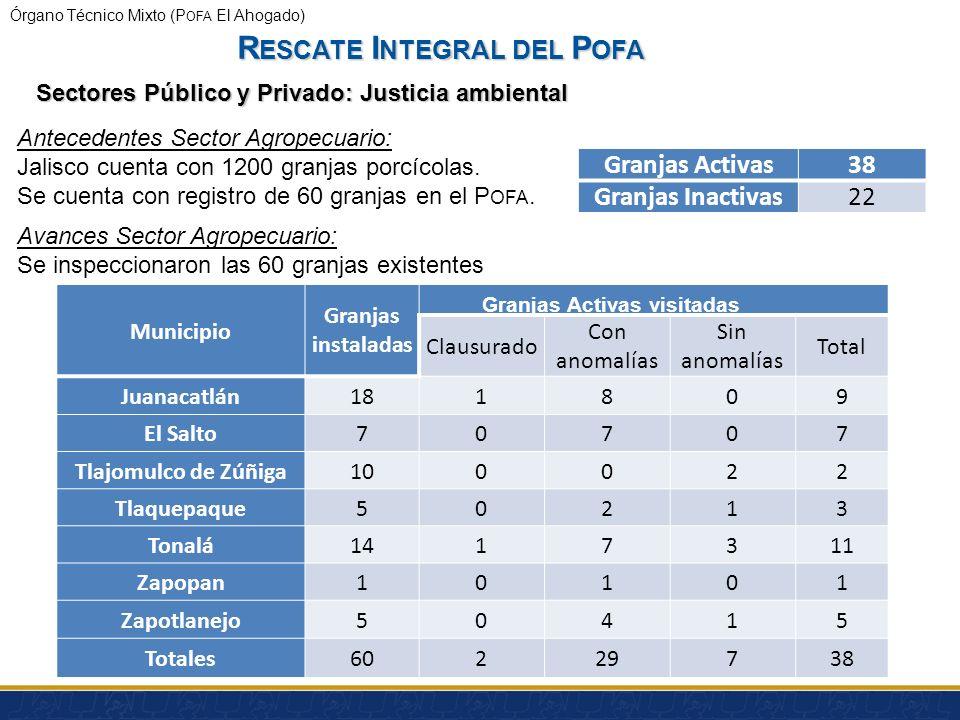 Órgano Técnico Mixto (P OFA El Ahogado) 1. Instrumentar convenios de coordinación entre los sectores público, social y productivo. 2. Atención a la de