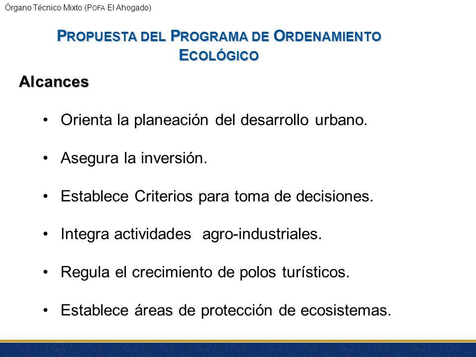 Órgano Técnico Mixto (P OFA El Ahogado) P ROPUESTA DEL P ROGRAMA DE O RDENAMIENTO E COLÓGICO ¿Qué es un ordenamiento ecológico? Proceso de planeación