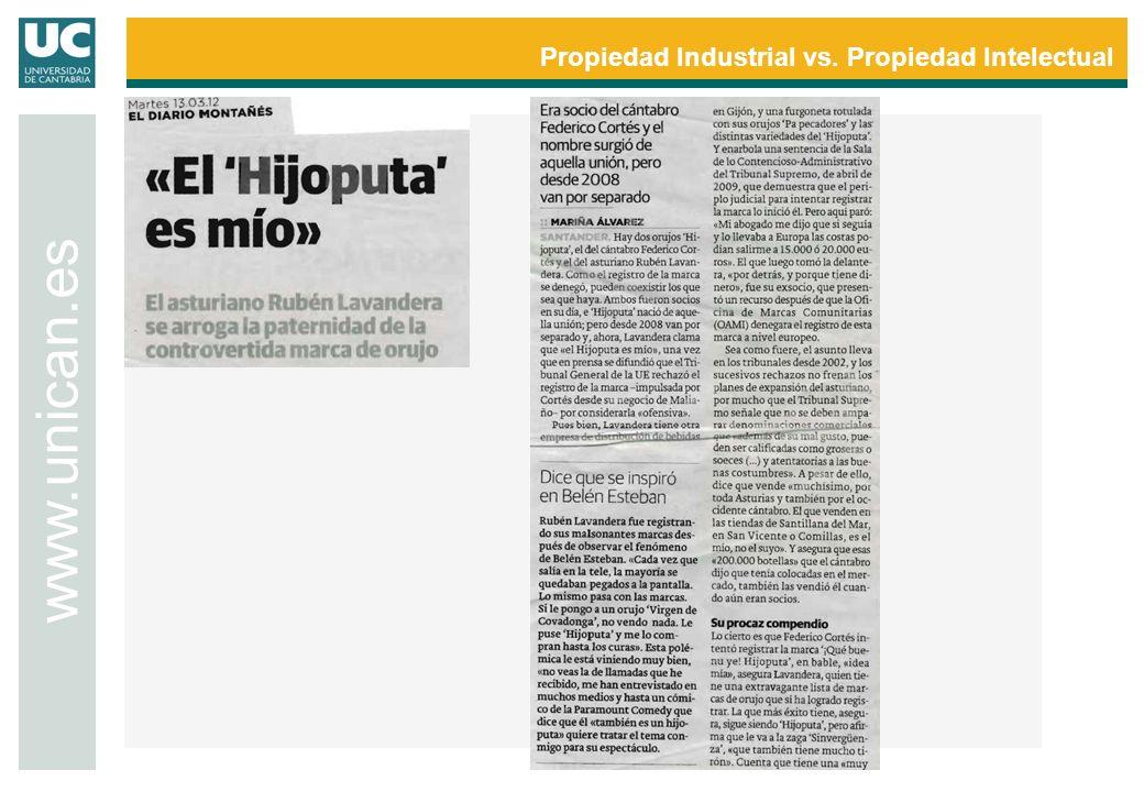Propiedad Industrial vs. Propiedad Intelectual www.unican.es