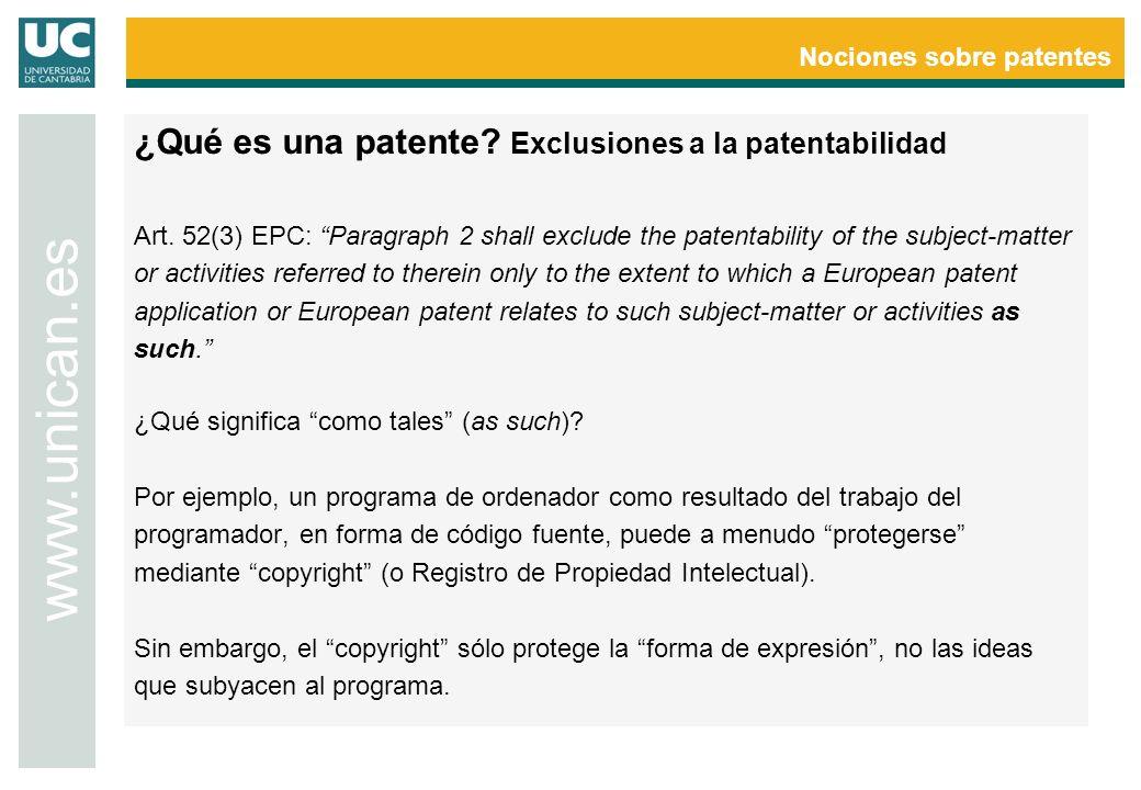 Nociones sobre patentes www.unican.es