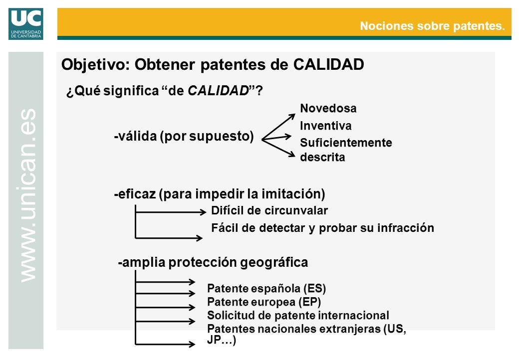 Nociones sobre patentes. www.unican.es