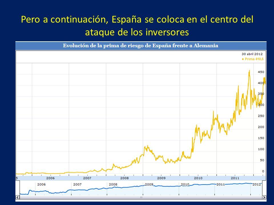 Pero a continuación, España se coloca en el centro del ataque de los inversores