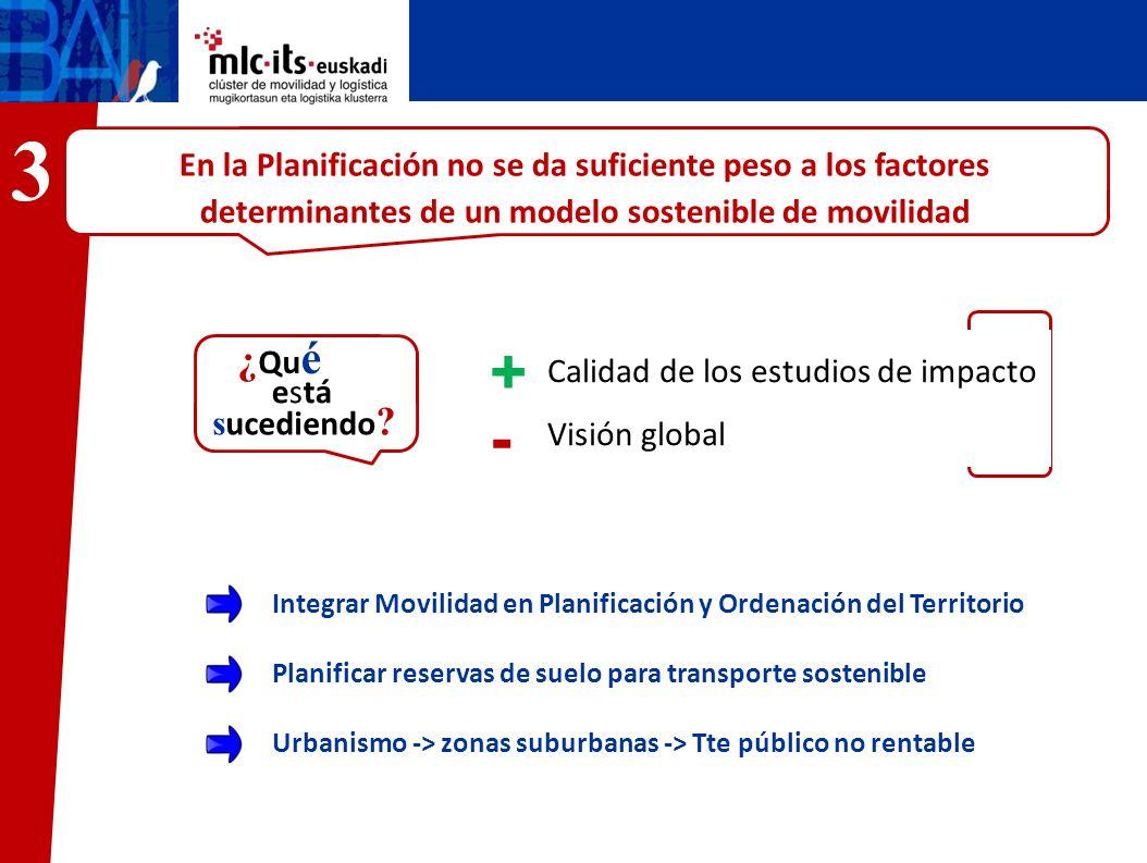 En la Planificación no se da suficiente peso a los factores determinantes de un modelo sostenible de movilidad José María Calidad de los estudios de i