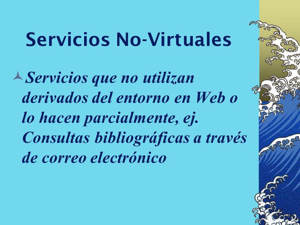 Servicios Semi-Virtuales Sistemas que presentan gran parte de sus Servicios y productos en un entorno digital, pero mantienen determinadas actividades