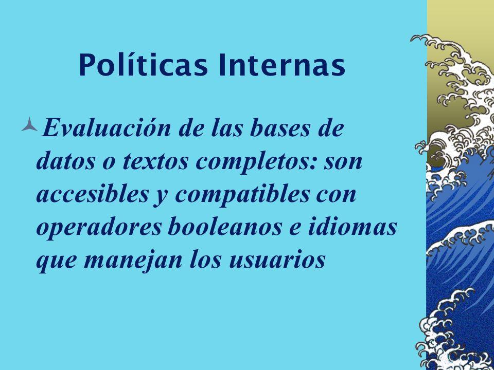 Políticas Internas Evaluación de autorías de sitios y enlaces, contenidos: originales, calidad y profundidad