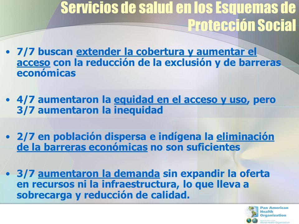 Servicios de salud en los Esquemas de Protección Social 7/7 buscan extender la cobertura y aumentar el acceso con la reducción de la exclusión y de ba