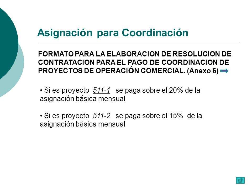 FORMATO PARA LA ELABORACION DE RESOLUCION DE CONTRATACION PARA EL PAGO DE COORDINACION DE PROYECTOS DE OPERACI Ó N COMERCIAL.