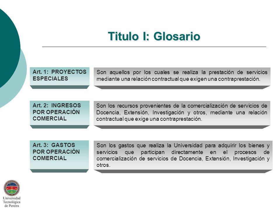 Titulo I: Glosario Art.