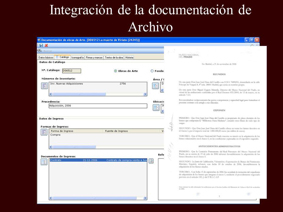 Integración de la documentación de Archivo