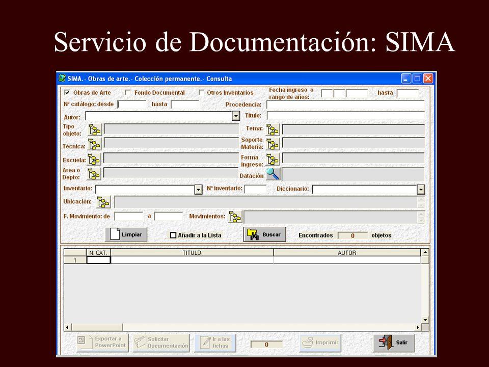 Servicio de Documentación: SIMA