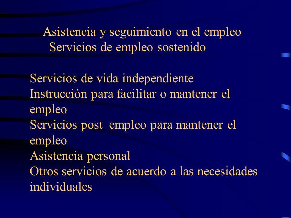 Manutención para cubrir costos en exceso durante el proceso de rehabilitación Servicios de transportación Servicios de restauración física o mental Ap