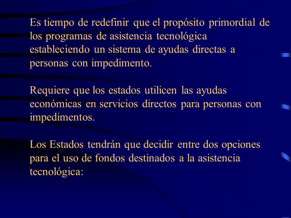 ATA (2004) Resumen del acta de asistencia tecnológica que ayudará a poner la tecnología en manos de aquellos que lo necesitan. Actualizar los propósit