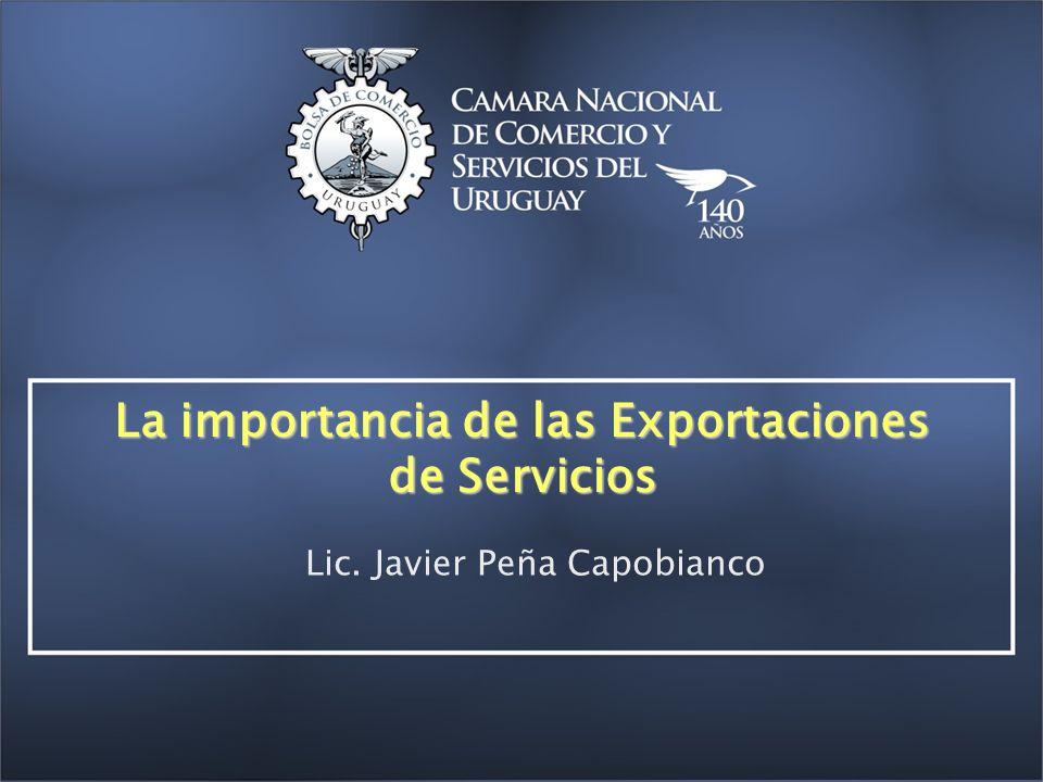 La importancia de las Exportaciones de Servicios Lic. Javier Peña Capobianco