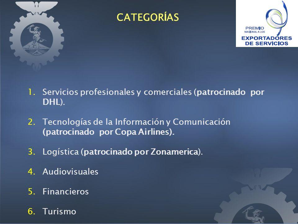 1.Servicios profesionales y comerciales (patrocinado por DHL).