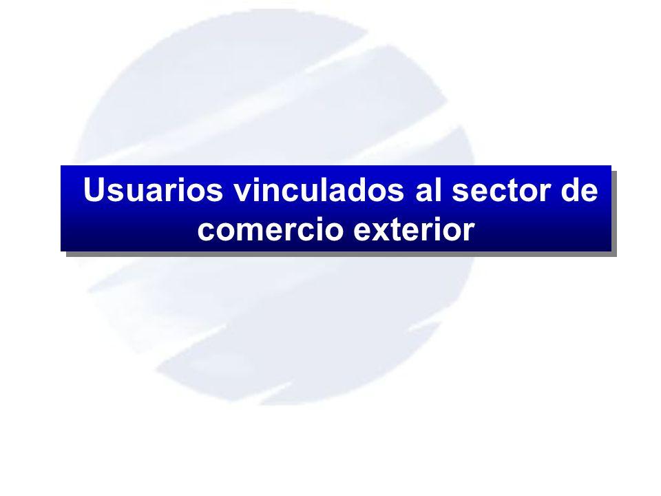 Usuarios vinculados al sector de comercio exterior