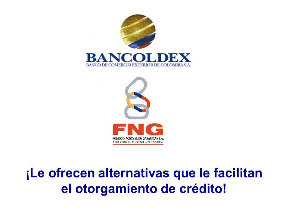 ¡Le ofrecen alternativas que le facilitan el otorgamiento de crédito!
