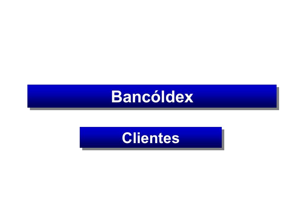 IF Colombianos IF extranjeros Otros BancóldexBancóldex Bancóldex Cliente Intermediario ONG, fundaciones, cooperativas, cajas de compensación, entre otros
