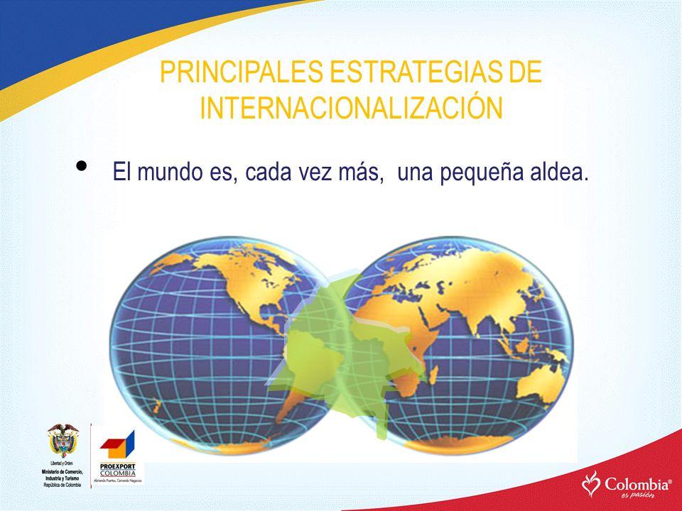 PRINCIPALES ESTRATEGIAS DE INTERNACIONALIZACIÓN El mundo es, cada vez más, una pequeña aldea.