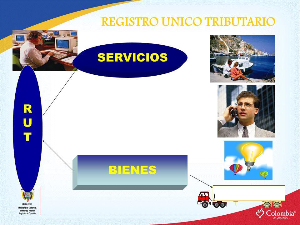 REGISTRO UNICO TRIBUTARIO SERVICIOS BIENES RUTRUT