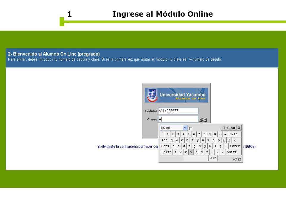 1 Ingrese al Módulo Online
