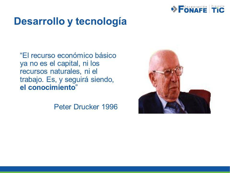 Desarrollo y tecnología El recurso económico básico ya no es el capital, ni los recursos naturales, ni el trabajo. Es, y seguirá siendo, el conocimien