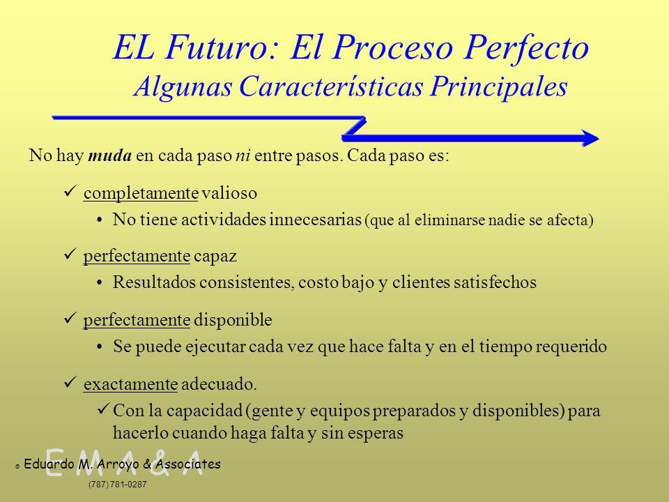 E M A & A © Eduardo M. Arroyo & Associates (787) 781-0287 EL Futuro: El Proceso Perfecto Algunas Características Principales No hay muda en cada paso