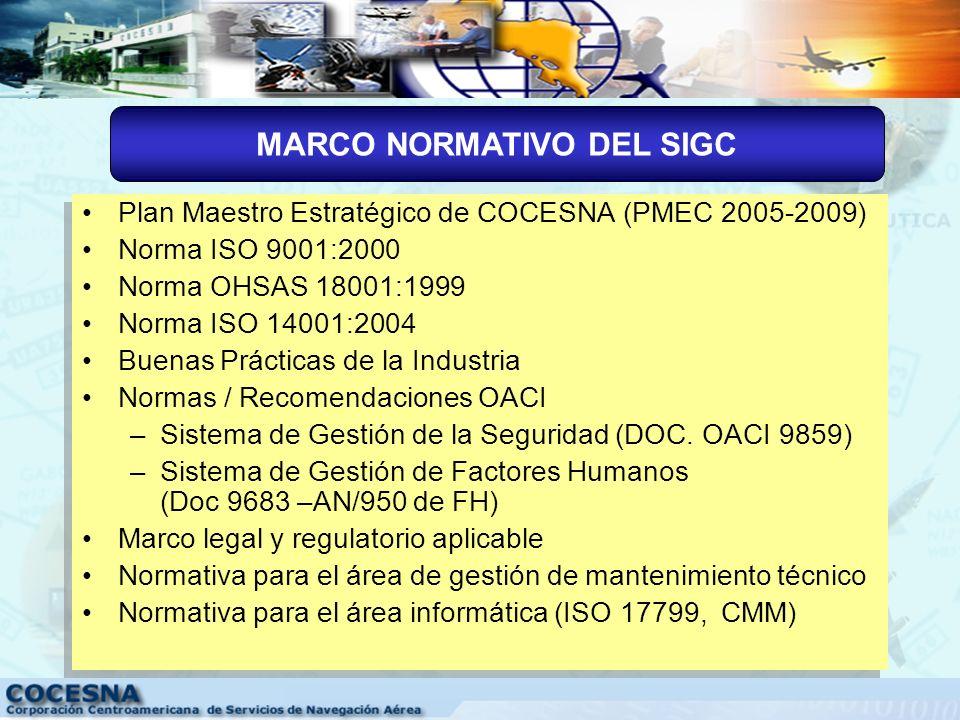 ISO 9001 Sistema de Gestión de Calidad ISO 14001 Sistema de Gestión Ambiental Calidad Medio ambiente Sistema Integrado de Gestión COCESNA OHSAS 18001