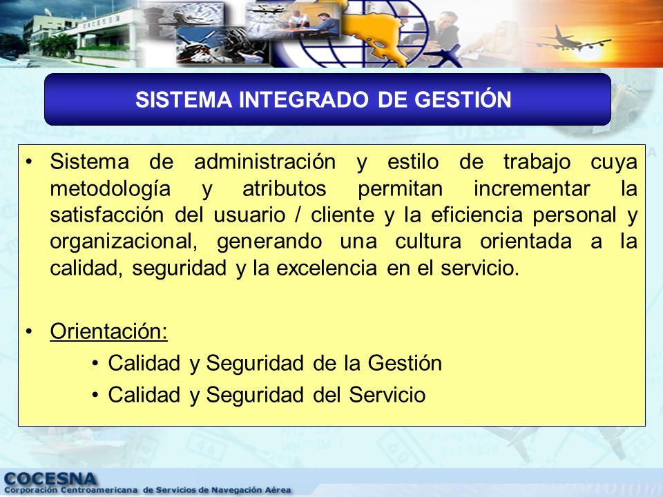 PRINCIPIOS DE CALIDAD SEGÚN LA NORMA ISO 9000 Y QUE SOPORTAN / COMPLEMENTA EL SMS DE COCESNA Enfoque al Usuario y/o Cliente Liderazgo Participación de