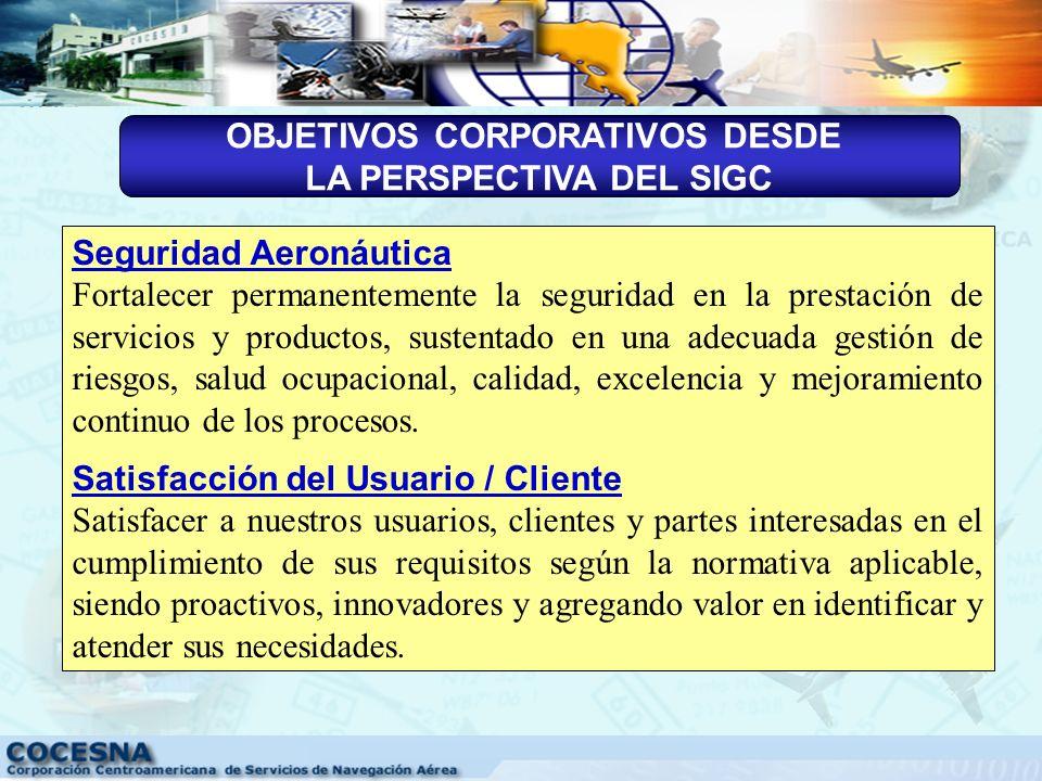 En COCESNA nos comprometemos a prestar con calidad y seguridad los servicios y productos requeridos por los usuarios, clientes y partes interesadas de