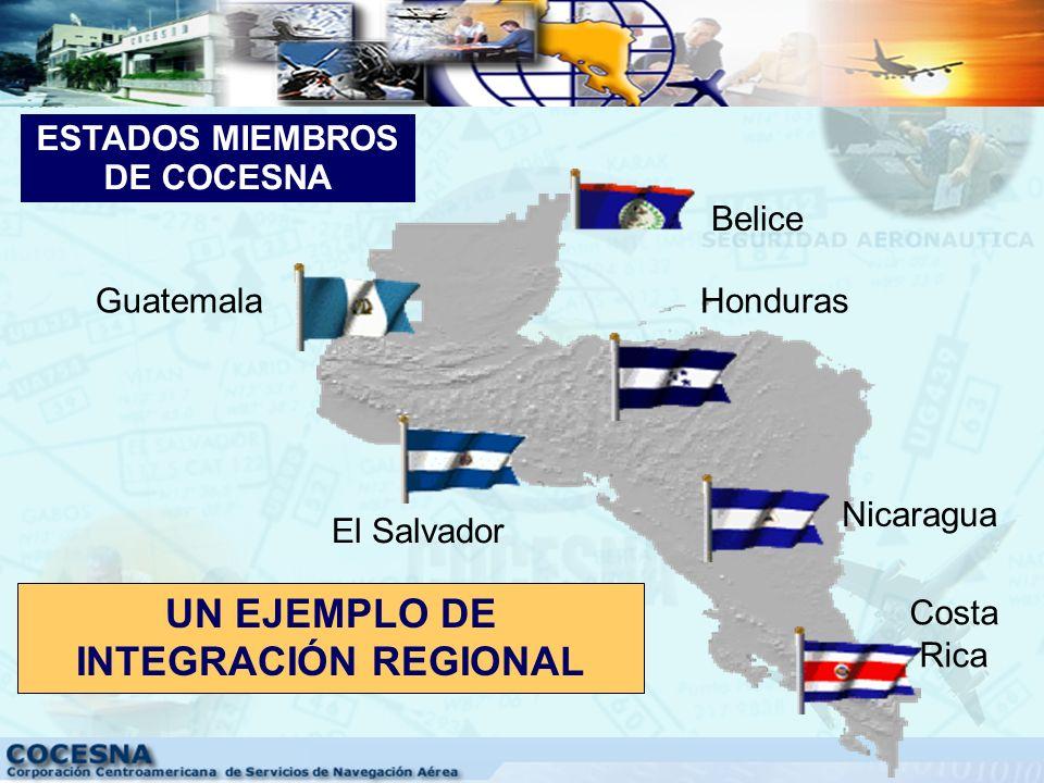 Los Estados Miembros de COCESNA son: Costa Rica, El Salvador, Guatemala, Honduras y Nicaragua, quienes firmaron el Convenio Constitutivo el 26 de febr