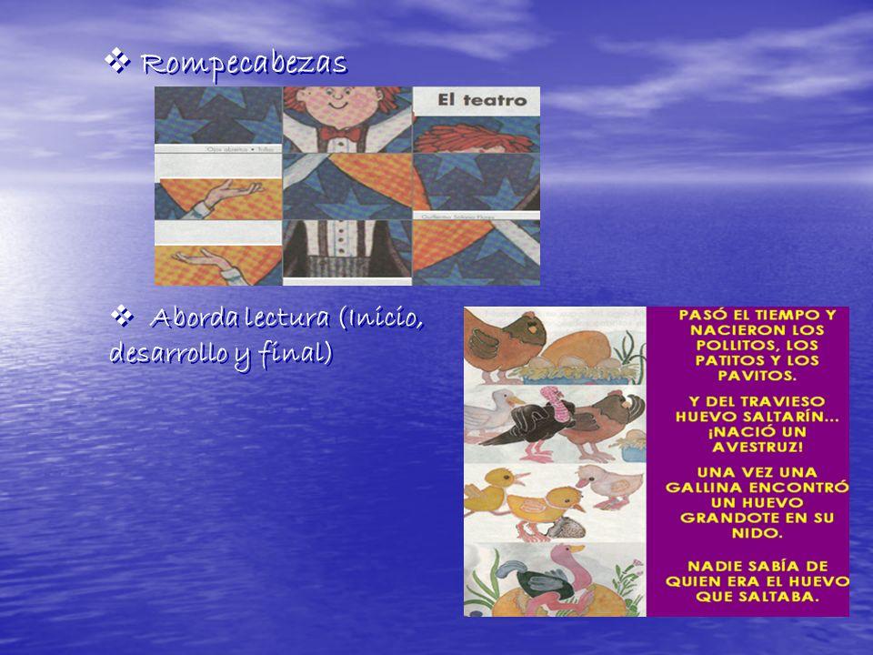 Rompecabezas Aborda lectura (Inicio, desarrollo y final) Aborda lectura (Inicio, desarrollo y final)