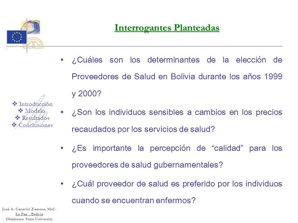 El Modelo Random Parameter Logit para Estimar la Elección de Proveedor de Servicios de Salud en Bolivia Brecha entre Economía de la Salud y Econometrí