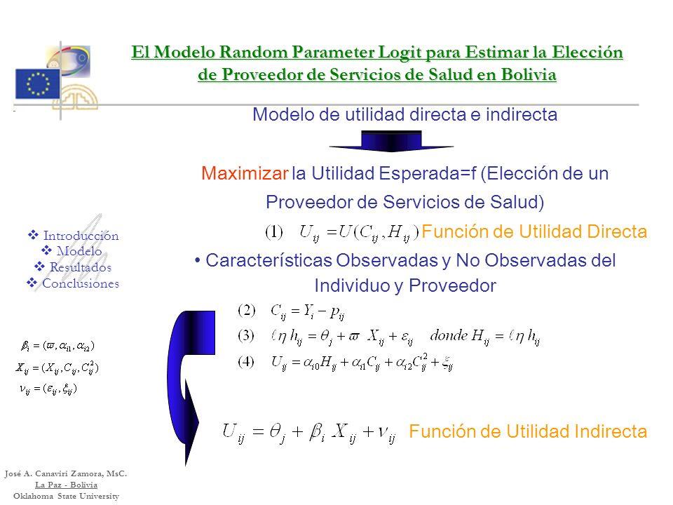 Funciones de Utilidad y Demanda de Salud Primera aproximación demanda por servicios de salud en Perú (Gertler) Sistema de Ecuaciones de Demanda y sist