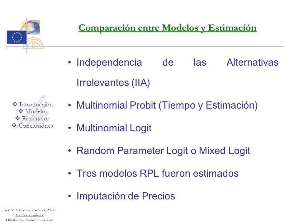 El Modelo Random Parameter Logit para Estimar la Elección de Proveedor de Servicios de Salud en Bolivia La utilidad permanece latente y una función y