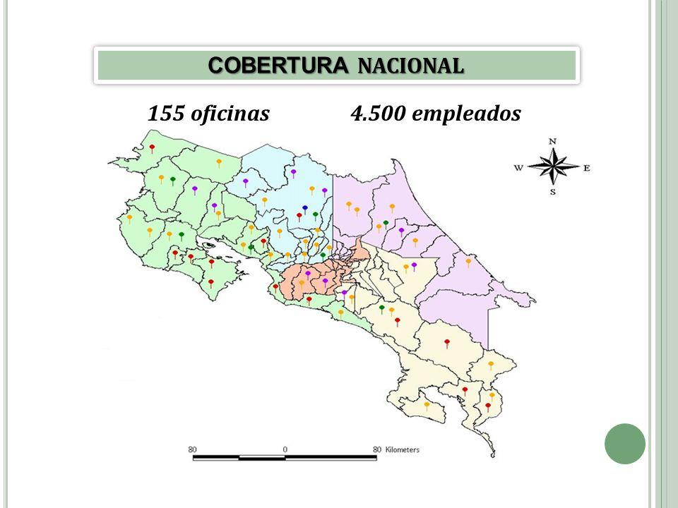 155 oficinas4.500 empleados COBERTURA NACIONAL