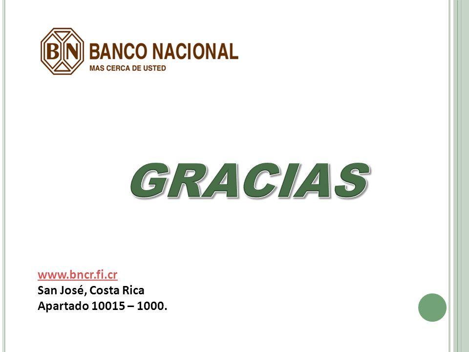 www.bncr.fi.cr San José, Costa Rica Apartado 10015 – 1000.