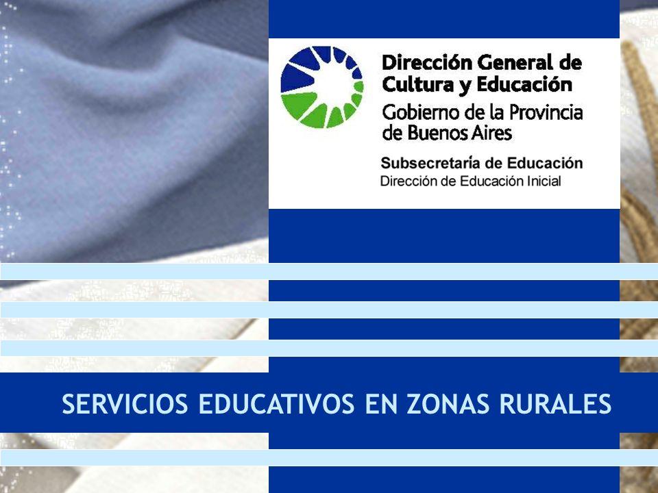 SERVICIOS EDUCATIVOS EN ZONAS RURALES