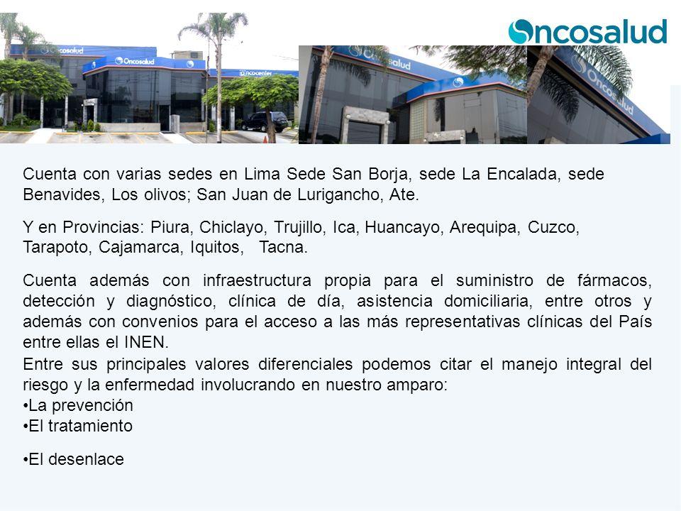 Cuenta con varias sedes en Lima Sede San Borja, sede La Encalada, sede Benavides, Los olivos; San Juan de Lurigancho, Ate. Y en Provincias: Piura, Chi