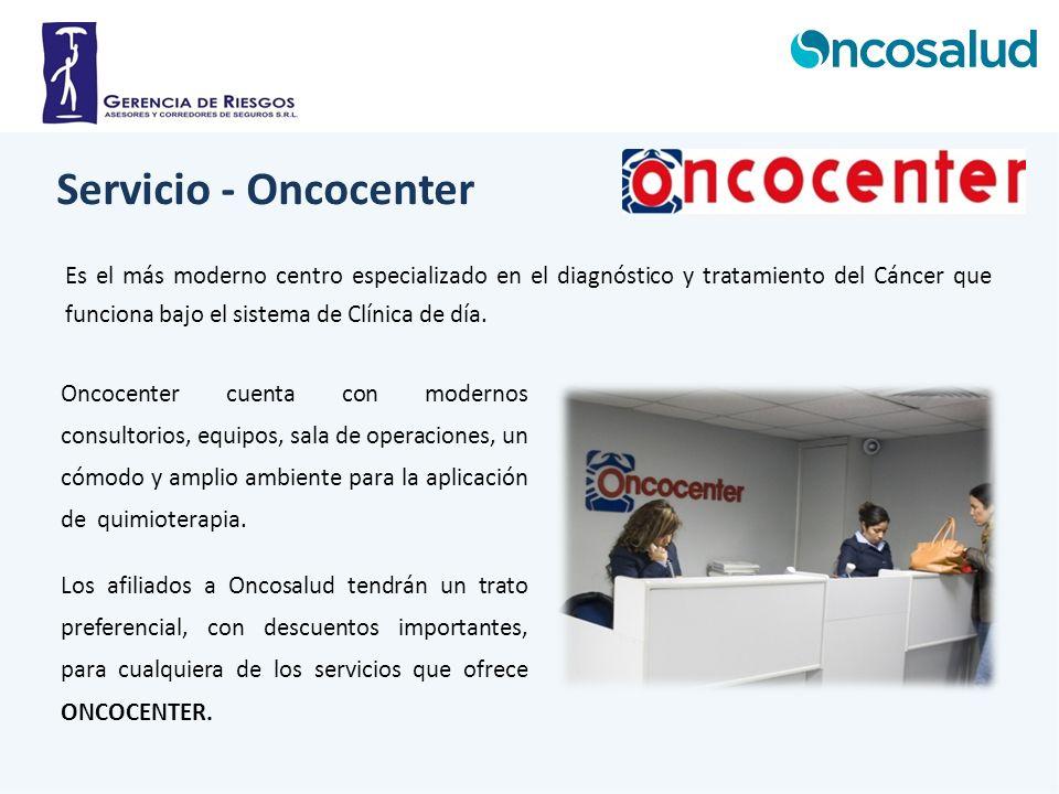 Es el más moderno centro especializado en el diagnóstico y tratamiento del Cáncer que funciona bajo el sistema de Clínica de día. Oncocenter cuenta co