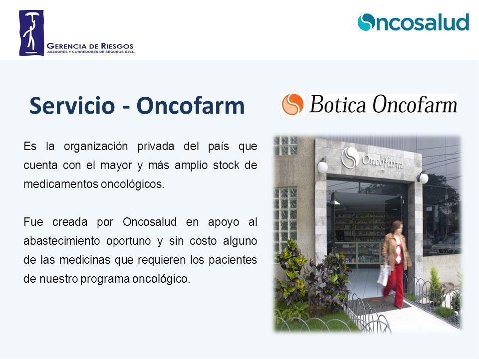 Es la organización privada del país que cuenta con el mayor y más amplio stock de medicamentos oncológicos. Fue creada por Oncosalud en apoyo al abast